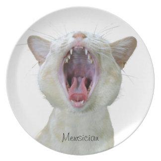 Placa del gato birmano platos
