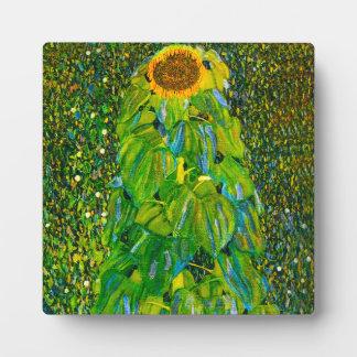Placa del girasol de Gustavo Klimt