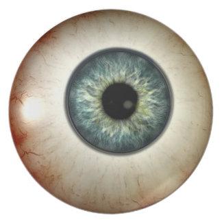 Placa del globo del ojo platos para fiestas