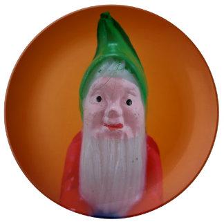 Placa del gnomo platos de cerámica