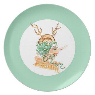 Placa del gorra del cuerno plato
