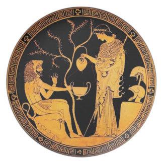 Placa del griego clásico platos