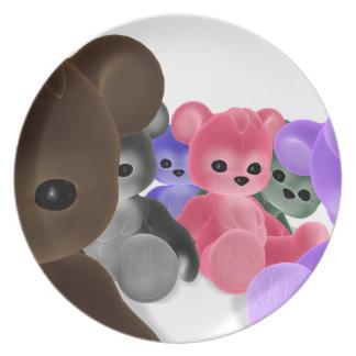 Placa del grupo de Bearz del peluche Platos