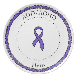 Placa del héroe de ADD/ADHD Platos Para Fiestas