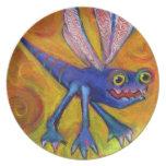 Placa del insecto del monstruo platos