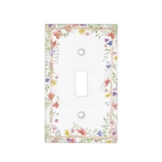 Placa del interruptor de la luz de los Wildflowers Tapas Para Interruptores