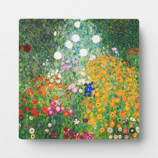 Placa del jardín de flores de Gustavo Klimt