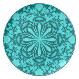 Placa del jardín de la turquesa platos de comidas