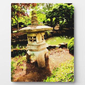 placa del jardín del zen