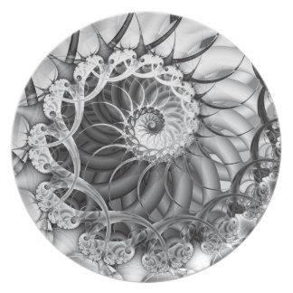 Placa del jardín espiral platos