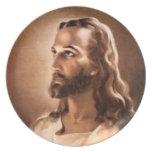 Placa del Jesucristo Plato De Cena
