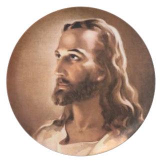 Placa del Jesucristo Plato Para Fiesta