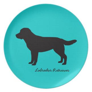 Placa del labrador retriever platos