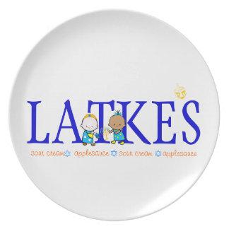 Placa del Latke de Chanukah (Jánuca) Platos Para Fiestas