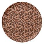 Placa del leopardo plato de comida