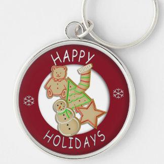 Placa del llavero de las galletas del navidad