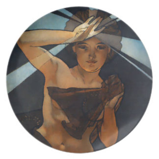 Placa del lucero del alba de Alfonso Mucha Platos De Comidas