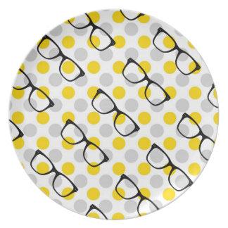Placa del lunar de los vidrios del inconformista platos