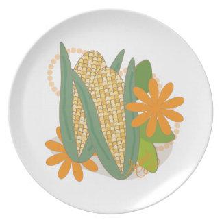 Placa del maíz dulce del precio del mercado de los platos para fiestas