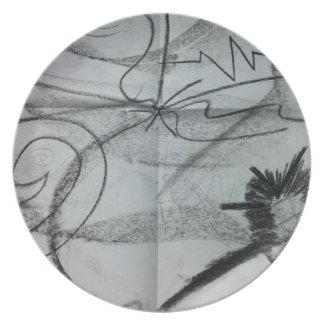 Placa del Mármol-esque Platos