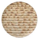 Placa del Matzah para el Passover Seder y diario Plato De Cena