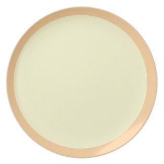 Placa del Mediados de-Melocotón y de la crema Platos De Comidas