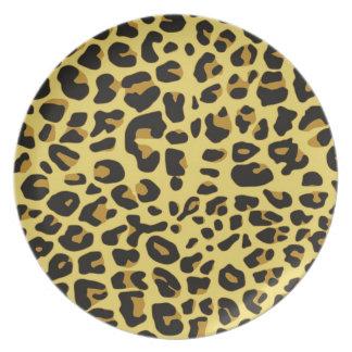 Placa del melanine de Jaguar Plato