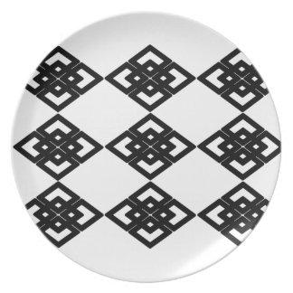 Placa del melanine del modelo del diamante plato para fiesta