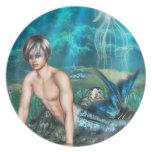 Placa del Merman Plato Para Fiesta