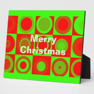Placa del modelo de las Felices Navidad