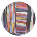 placa del modelo del edredón platos para fiestas