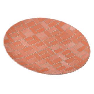 Placa del modelo del ladrillo plato para fiesta