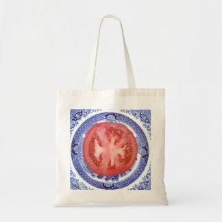 Placa del modelo del tomate y del sauce bolsa lienzo