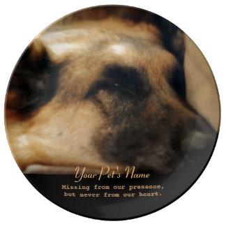Placa del monumento de la pérdida del mascota del platos de cerámica