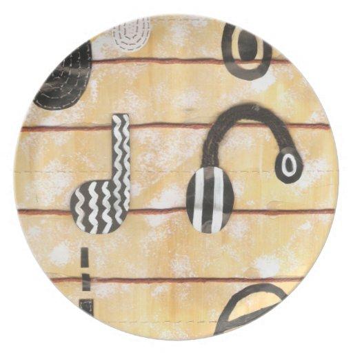 Placa del Musical del auricular Plato Para Fiesta