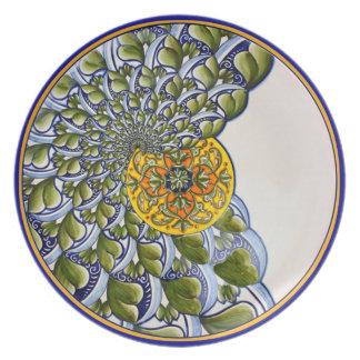 Placa del nautilus plato de cena