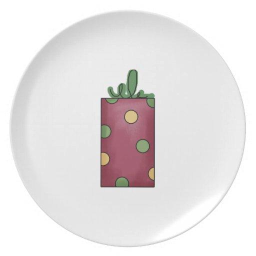 Placa del navidad de la diversión platos para fiestas