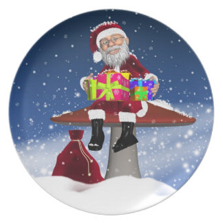 Placa del navidad de las vacaciones de invierno platos para fiestas