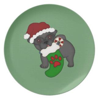 Placa del navidad del barro amasado #1 platos para fiestas