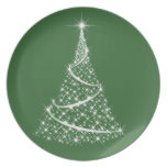 Placa del navidad - elija su color plato