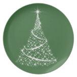 Placa del navidad - elija su color plato de comida