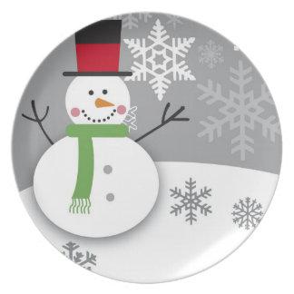 Placa del navidad plato de comida