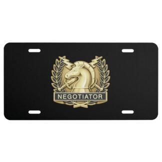 Placa del negociador placa de matrícula