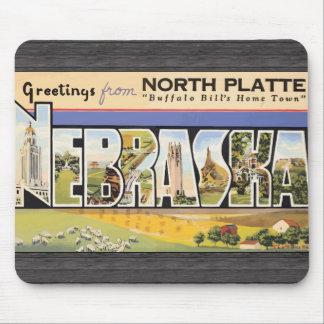 """Placa del norte la """"ciudad natal"""" Nebraska, V de B Tapete De Ratón"""
