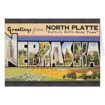 "Placa del norte la ""ciudad natal"" Nebraska, V de B Tarjeton"