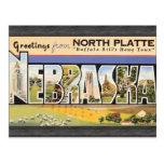 "Placa del norte la ""ciudad natal"" Nebraska, V de B Tarjeta Postal"