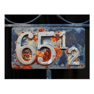 Placa del número de la dirección, sesenta y cinco tarjetas postales
