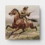 Placa del oeste vieja de Buffalo Bill 1885 w/Easel