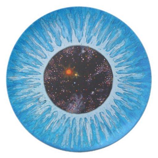 placa del ojo de la mente tridimensional platos de comidas