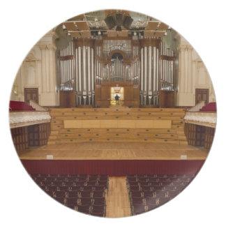 Placa del órgano - ayuntamiento, Auckland, Nueva Z Platos De Comidas